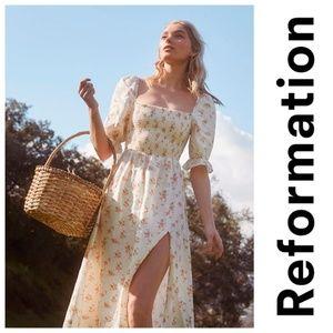 New REFORMATION Marabella Linen Dress